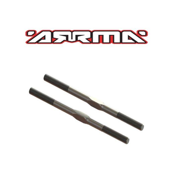 2 ARA330662 Arrma EXB Steel Turnbuckle M5x89mm Silver AR330230 Kraton // 6S