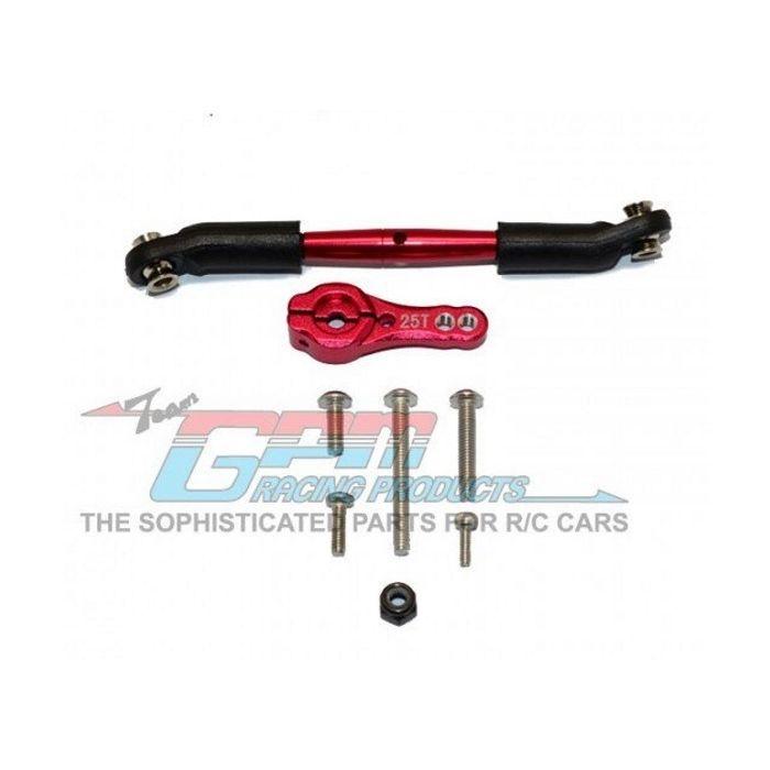 Red TRX-6 GPM Alum Servo Horn 25T w//Spring Steel Steering Link 6Pcs TRX-4