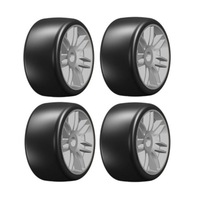 NEW GRP GTK02-S5 1:8 Medium MTD Tires Spoked SIL Wheel 2 FREE US SHIP