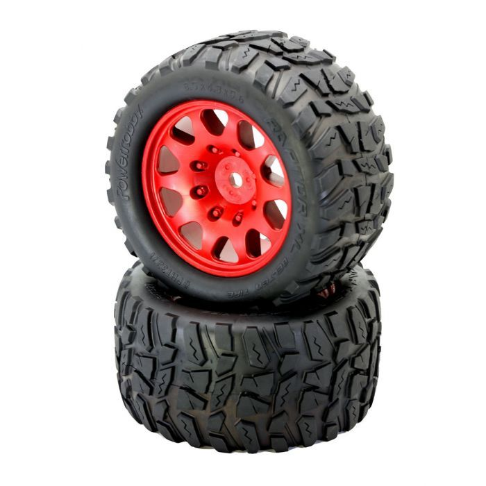 OUTCAST 8S Viper Wheels Arrma Kraton 4 Powerhobby RAPTOR XL Belted Tires