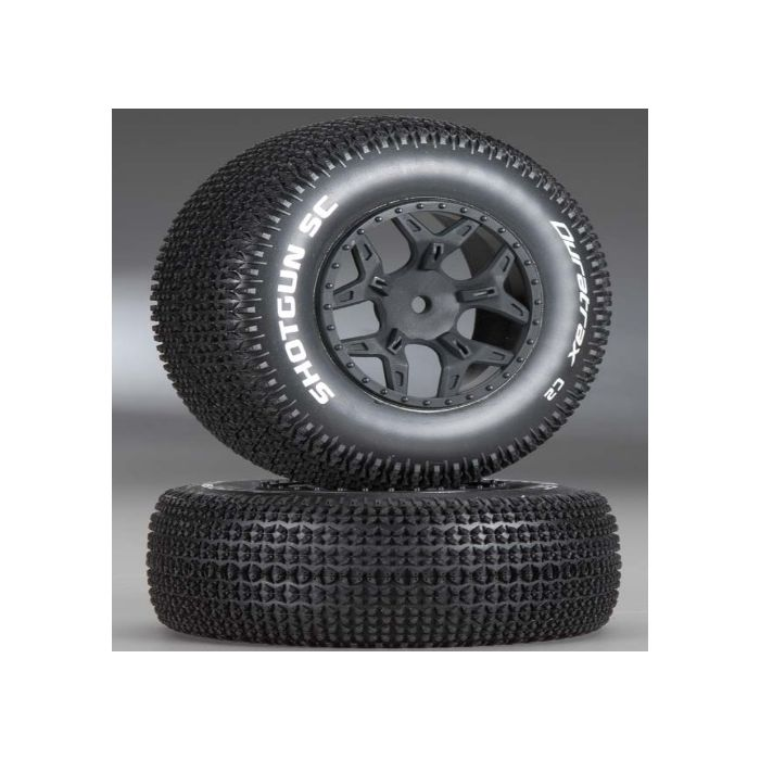 Duratrax Shotgun SC C2 Mounted Tires: SCTE 4x4 DTXC3691 2