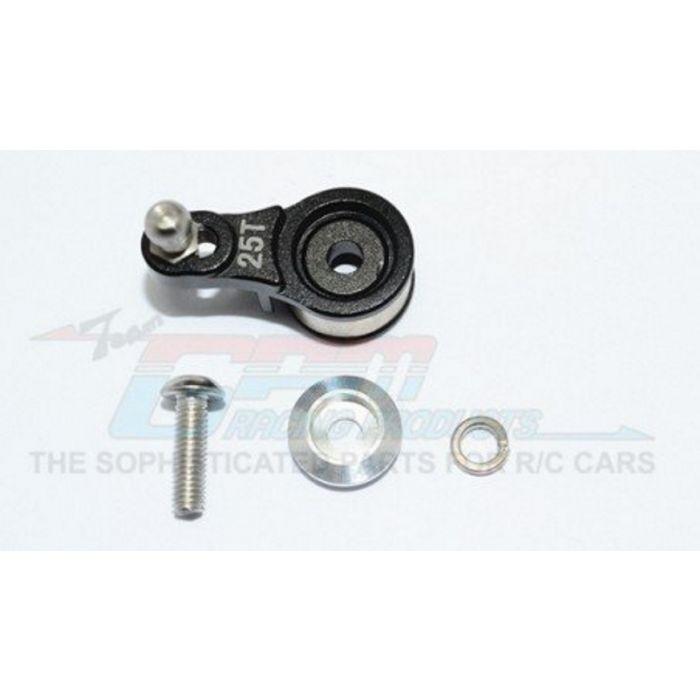 12Pcs GPM Aluminum Servo Horn w// Built-In Spring Locking Diff TRX-4 Black