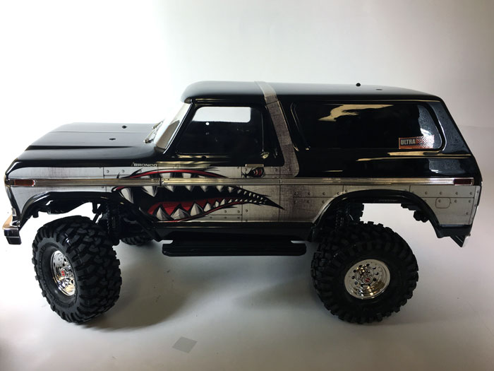 Spitfire Shark Teeth Traxxas Trx4 Bronco Body Skin Wrap