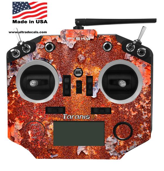 Taranis Q X7 X7s Rusted Paint Radio Skin Wrap Transmitter