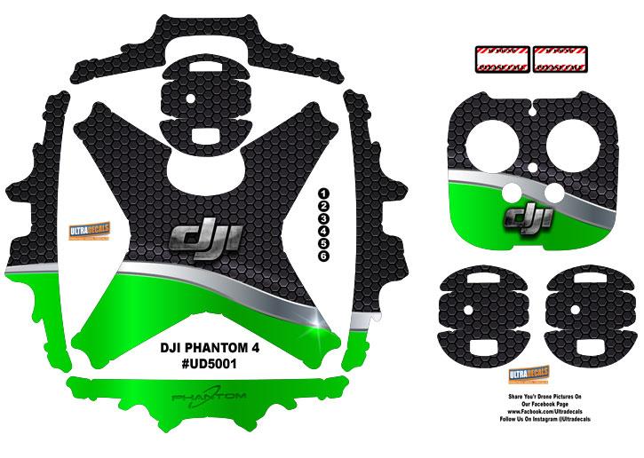 Green honeycomb dji phantom 4 p4 skin wrap decal sticker vinyl ultradecal
